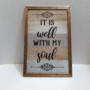 Framed Wall Art - It Is Well With My Soul